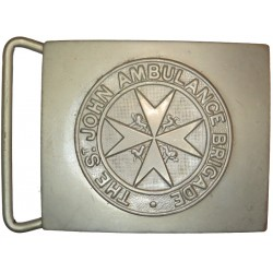 St John Ambulance Belt-Plate WW2 Era  White Metal Stable Belt, belt-plate or buckle
