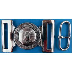 Rhodesian Army Belt Buckle - Pre-1980 Locket-Type Buckle  Chrome-plated Stable Belt, belt-plate or buckle