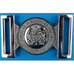 Lothians And Borders Police Belt Buckle (1975-2013) Locket Type Buckle with Queen Elizabeth's Crown. Chrome-plated Stable Belt,
