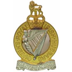 Queen's Royal Irish Hussars Cross-Belt Badge 3 Bolt Fastening  Bi-metallic Stable Belt, belt-plate or buckle