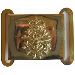 Canadian Armed Forces Belt Plate  with Queen Elizabeth's Crown. Brass Stable Belt, belt-plate or buckle