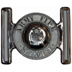 Army Fire Service Locket Type Buckle with Queen Elizabeth's Crown. Chrome-plated Stable Belt, belt-plate or buckle