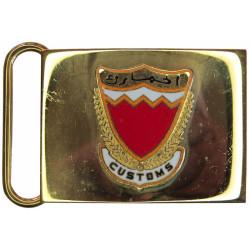 Bahrain Customs Belt Plate Badge On Plate  Gilt and enamel Stable Belt, belt-plate or buckle