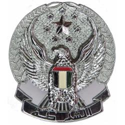 Abu Dhabi Police Belt Plate Badge Similar To Hat Badge  Chrome and enamelled Stable Belt, belt-plate or buckle
