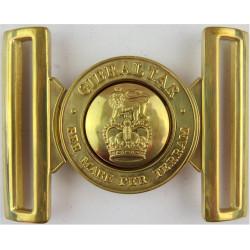 Royal Marines Belt Buckle Locket Type Buckle with Queen Elizabeth's Crown. Brass Stable Belt, belt-plate or buckle