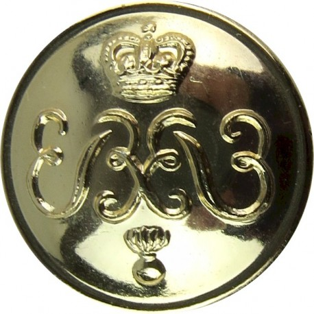 Colonels And Brigadiers - EiiR 19.5mm - Gold Colour with Queen Elizabeth's Crown. Anodised Staybrite military uniform button