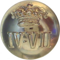 4th/7th Royal Dragoon Guards 18.5mm - Gold Colour  Anodised Staybrite military uniform button