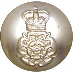 Intelligence Corps 19mm - Screw-Fit with Queen Elizabeth's Crown. Anodised Staybrite military uniform button