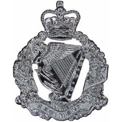 Royal Irish Regiment Badge For Waist-Belt Plate Wreathed Harp Crest with Queen Elizabeth's Crown. Chrome-plated Stable Belt, bel