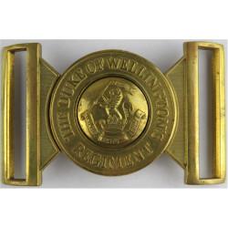 Duke Of Wellington's Regiment Belt Buckle Locket Type Buckle  Brass Stable Belt, belt-plate or buckle
