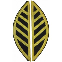 Band Shoulder Wings Gold On Black  Bullion wire-embroidered Musician, piper, drummer or bugler insignia