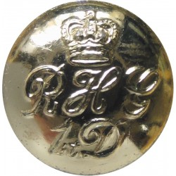 Blues And Royals (Royal Horse Guards & 1st Dragoons) 16.5mm - Gold Colour with Queen Elizabeth's Crown. Anodised Staybrite milit