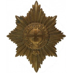 Coldstream Guards Valise Star - 85mm X 70mm 2 Lugs  Brass Musician, piper, drummer or bugler insignia