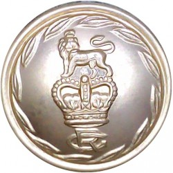 Gloucestershire Regiment 26mm - Gold Colour with Queen Elizabeth's Crown. Anodised Staybrite military uniform button