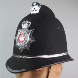 Helmet: West Yorkshire Metropolitan Police (Coxcomb) With Helmet Star with Queen Elizabeth's Crown. Chrome and enamelled Hat, ca