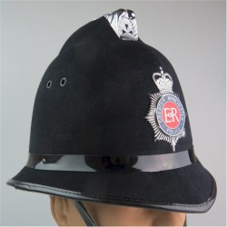 Helmet: Greater Manchester Police (Coxcomb) With Helmet Star with Queen Elizabeth's Crown. Chrome and enamelled Hat, cap or helm