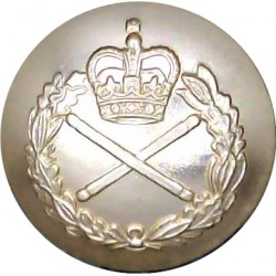 Field Marshal's 19mm - Gold Colour with Queen Elizabeth's Crown. Anodised Staybrite military uniform button