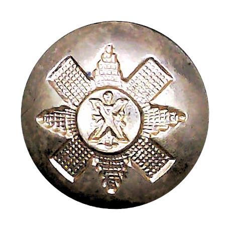 Duke Of Wellington's Regiment (West Riding) 14.5mm - Gold Colour Anodised Staybrite military uniform button