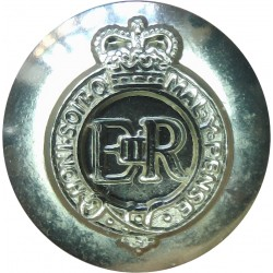 Staffordshire Yeomanry 13.5mm Silver Colour with Queen Elizabeth's Crown. Anodised Staybrite military uniform button