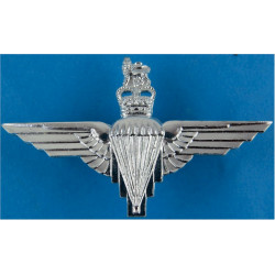 Parachute Regiment  with Queen Elizabeth's Crown. Anodised Staybrite army cap badge