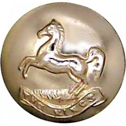 King's Regiment (Liverpool)(Horse Over 'The King's') 14.5mm - Gold Colour  Anodised Staybrite military uniform button