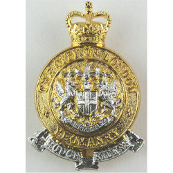 City of London Yeomanry (Rough Riders)   Anodised Staybrite army cap badge