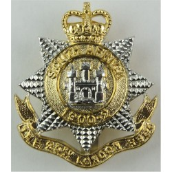 23rd London Regiment Sealed 28 Jan 1958 with Queen Elizabeth's Crown. Anodised Staybrite army cap badge