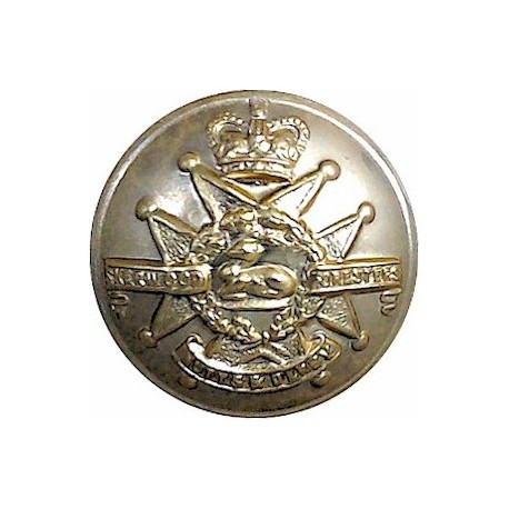 Sherwood Foresters (Notts & Derby Regiment) 1963-70 25.5mm - Gold Colour with Queen Elizabeth's Crown. Anodised Staybrite milita