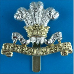 10th Royal Hussars (Prince Of Wales's Own) Pre-1969  Anodised Staybrite army cap badge