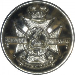 Sherwood Foresters (Notts & Derby Regiment) 1963-70 19mm - Gold Colour with Queen Elizabeth's Crown. Anodised Staybrite military