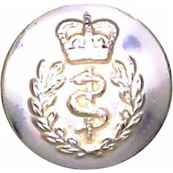 Royal Army Medical Corps 14.5mm - Gold Colour with Queen Elizabeth's Crown. Anodised Staybrite military uniform button