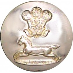 Prince Of Wales's Own Regiment Of Yorkshire 14mm - Gold Colour  Anodised Staybrite military uniform button