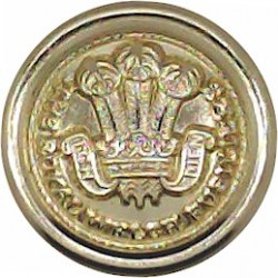 Royal Welch Fusiliers  (PoW's Feathers Pattern) 14mm - Gold Colour  Anodised Staybrite military uniform button