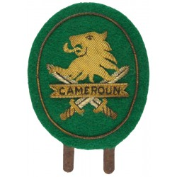 Cameroun Army   Bullion wire-embroidered Officers' cap badge