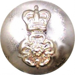 North Irish Horse 17.5mm Silver Colour with Queen Elizabeth's Crown. Anodised Staybrite military uniform button