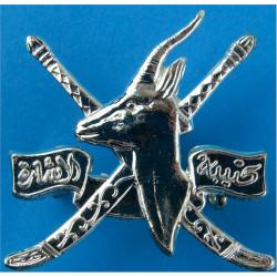 Oman Signal Regiment   Silver-plated Officers' metal cap badge