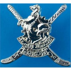 Oman Electrical & Mechanical Engineers   Silver-plated Officers' metal cap badge