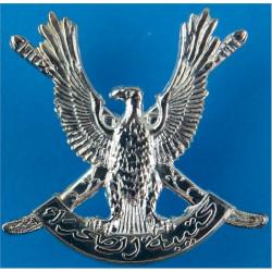 Oman - Desert Regiment   Silver-plated Officers' metal cap badge