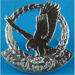Oman - Western Frontier Regiment   Silver-plated Officers' metal cap badge