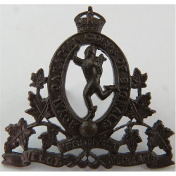 Royal Canadian Corps Of Signals 1936-1952 with King's Crown. Bronze Officers' metal cap badge