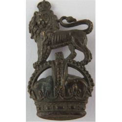 Extra-Regimentally Employed List Lion Over Crown with King's Crown. Bronze Officers' metal cap badge