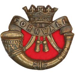 Duke Of Cornwall's Light Infantry   Bronze Officers' metal cap badge