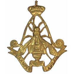 Belgian Army Air Corps - Licht Vliegwezen Beret Badge  Gilt Officers' metal cap badge