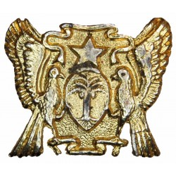 Armed Forces Of Sao Tome And Principe   Gilt Officers' metal cap badge