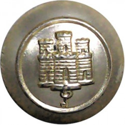 Royal Gibraltar Regiment 19.5mm - Gold Colour  Anodised Staybrite military uniform button