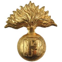 Belgian Military Police Beret Badge  Gilt Officers' metal cap badge