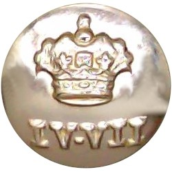 4th/7th Royal Dragoon Guards 14mm - Gold Colour  Anodised Staybrite military uniform button