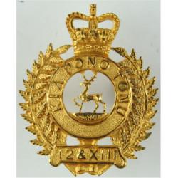 Nelson Marlborough & West Coast Regiment (1952-1964) New Zealand with Queen Elizabeth's Crown. Gilt Officers' metal cap badge