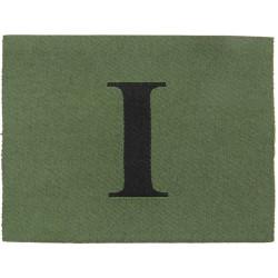Royal Gurkha Rifles - 1st Battalion Jungle Hat Badge Black 'I' On Green  Woven Other Ranks' cap badge