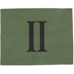 Royal Gurkha Rifles - 2nd Battalion Jungle Hat Badge Black 'II' On Green  Woven Other Ranks' cap badge
